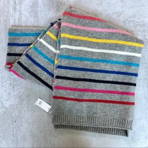 Gap | Merino Wool Blend Colorful Striped Scarf